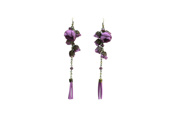 Poppy Earrings Violet Tulip