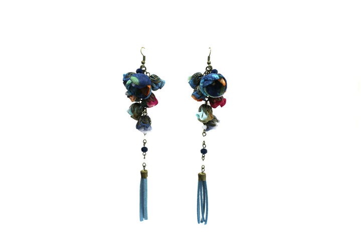 Poppy Earrings Faded Denim