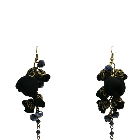 Gabrielle Earrings Boudoir Black
