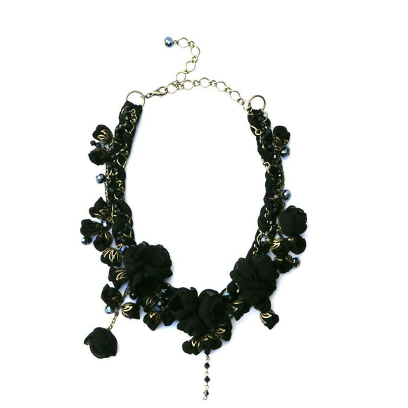 Anna Necklace Boudoir Black
