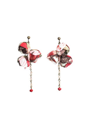Serenity Earrings Burgundy Bouquet