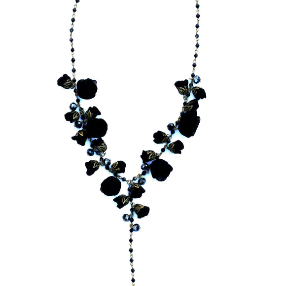 Claudia Necklace Boudoir Black