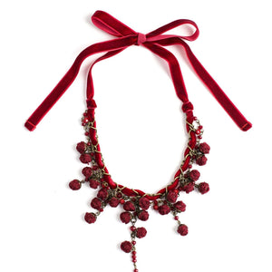 Ella Necklace Burgundy Bouquet