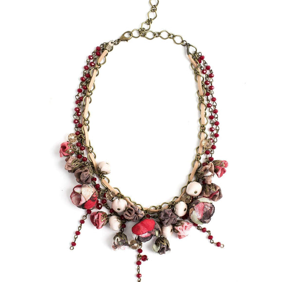 Georgeana Necklace Burgundy Bouquet