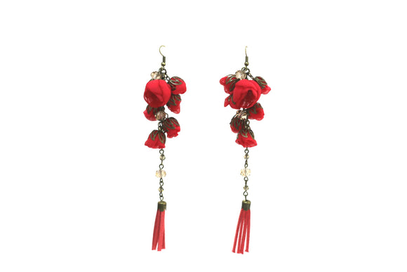 Poppy Earrings Candy Apple