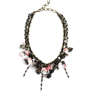 Georgeana Necklace Black Rose