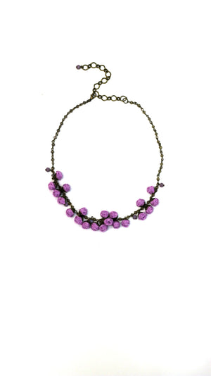 Blossom Necklace Violet Tulip