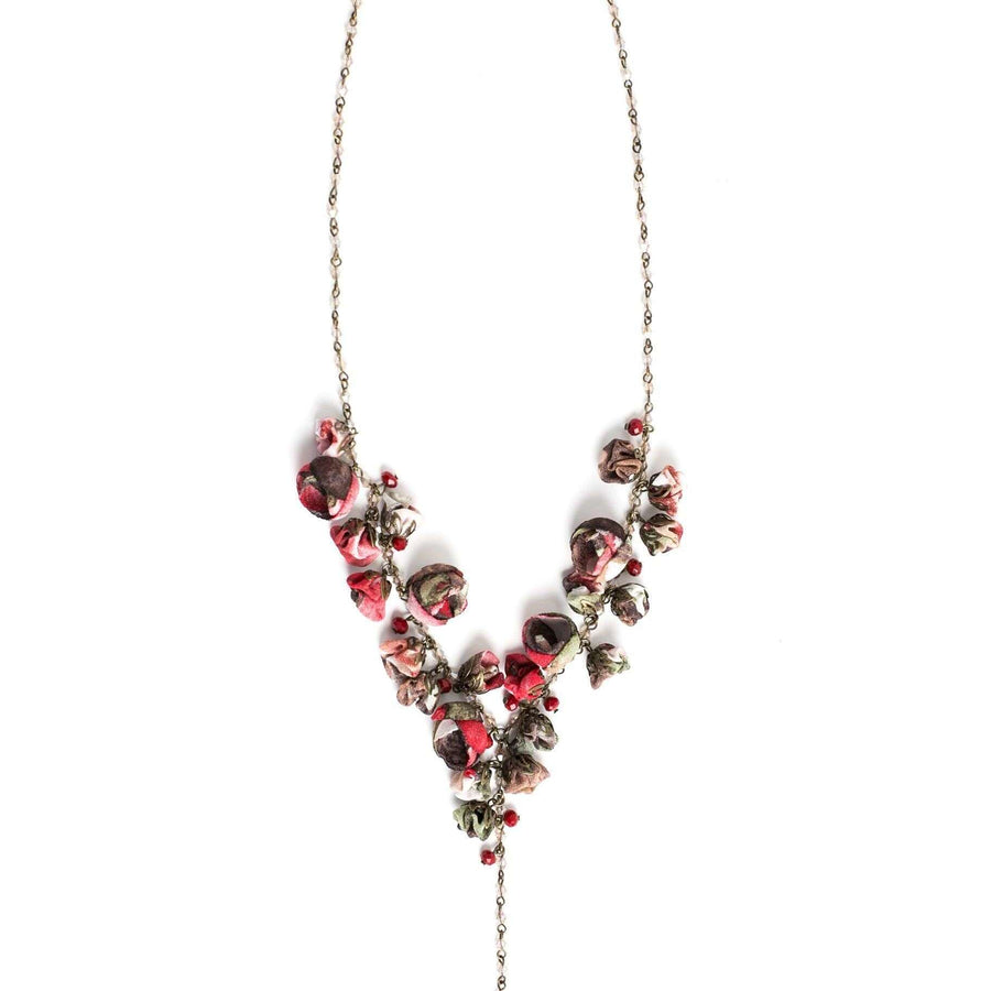 Claudia Necklace Burgundy Bouquet