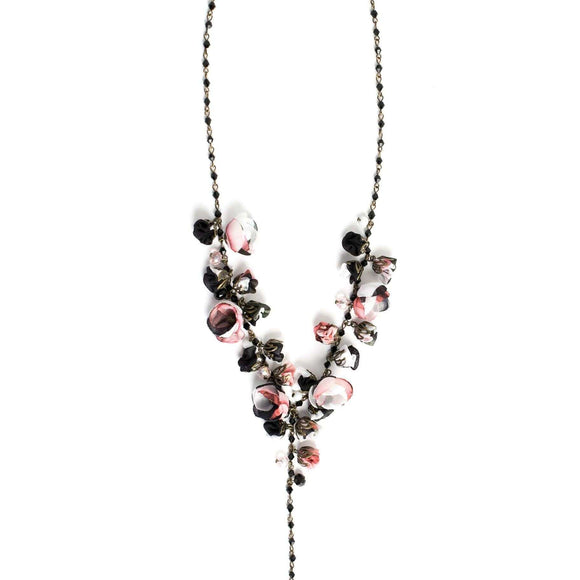 Claudia Necklace Black Rose