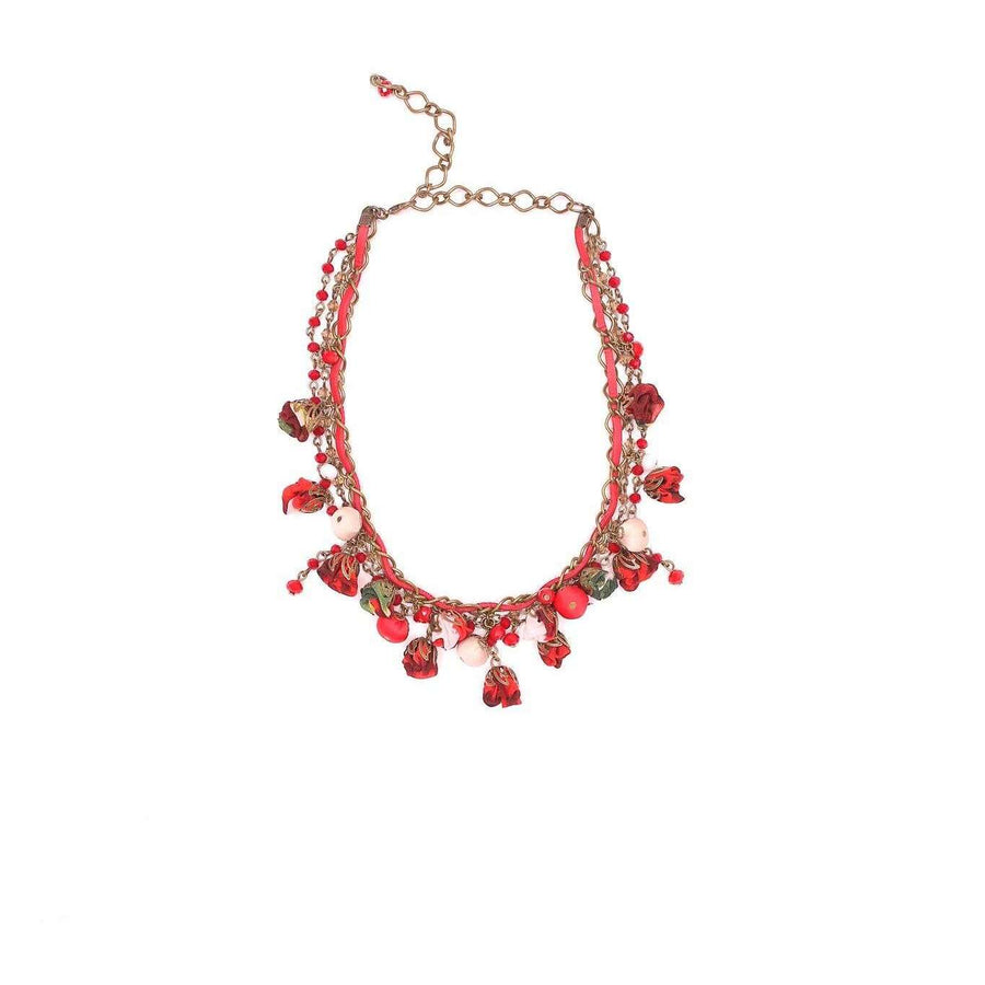 Daisy Necklace Redberry