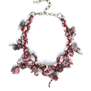 Anna Necklace Burgundy Bouquet