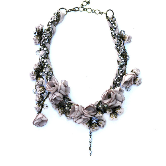 Anna Necklace Grey Quartz