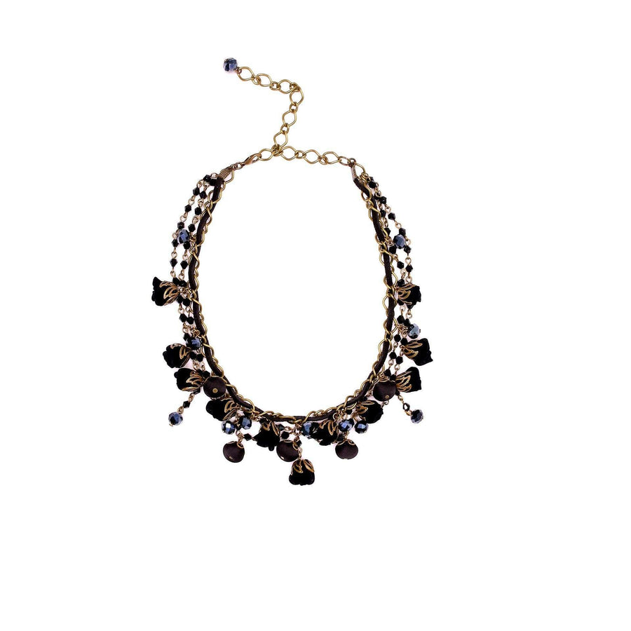 Daisy Necklace Boudoir Black