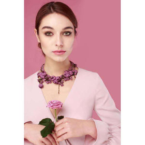 Anna Necklace Violet Tulip