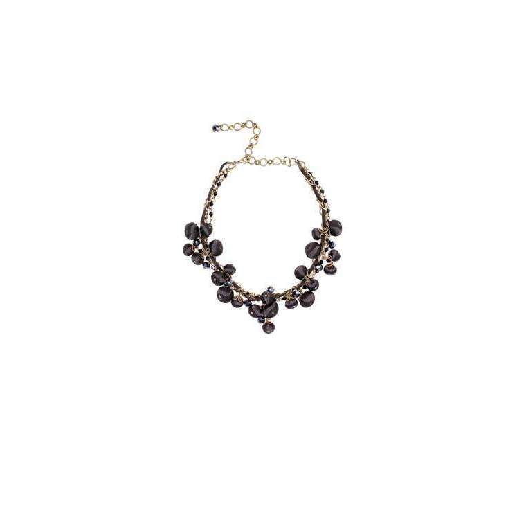 Gemma Necklace Boudoir Black