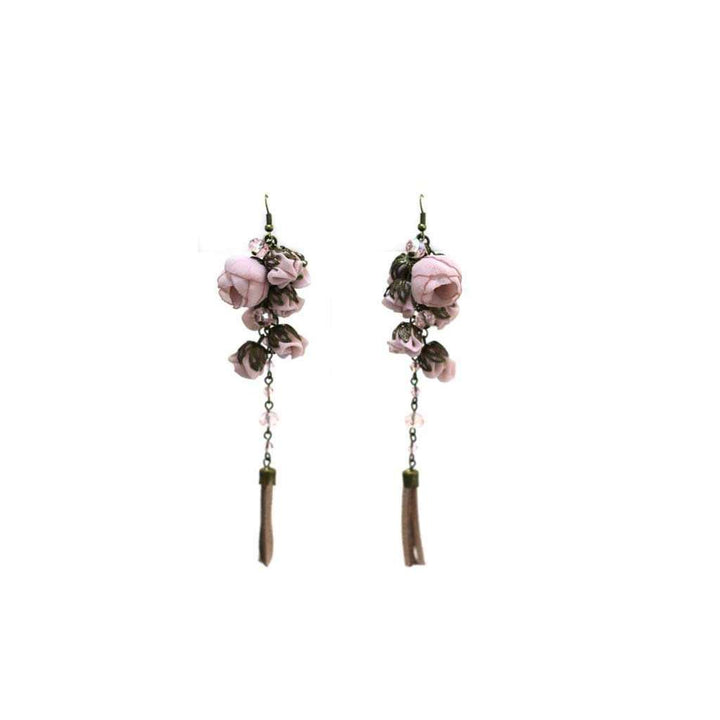 Poppy Earrings Ballerina Rose