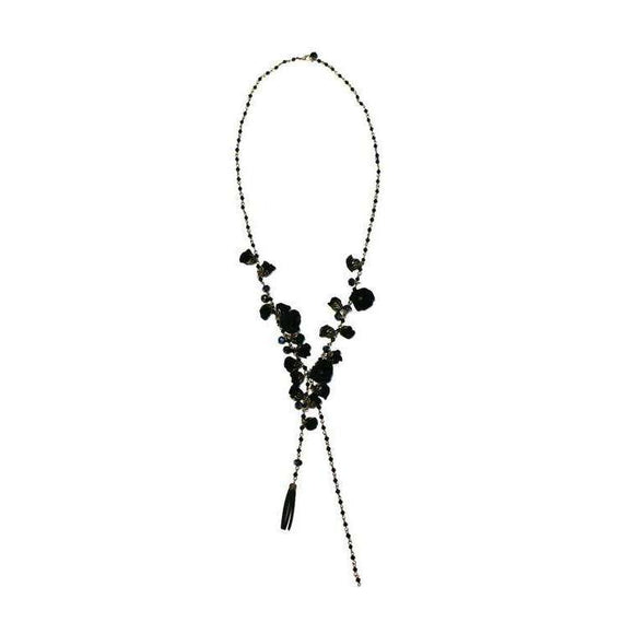 Poppy Necklace Boudoir Black