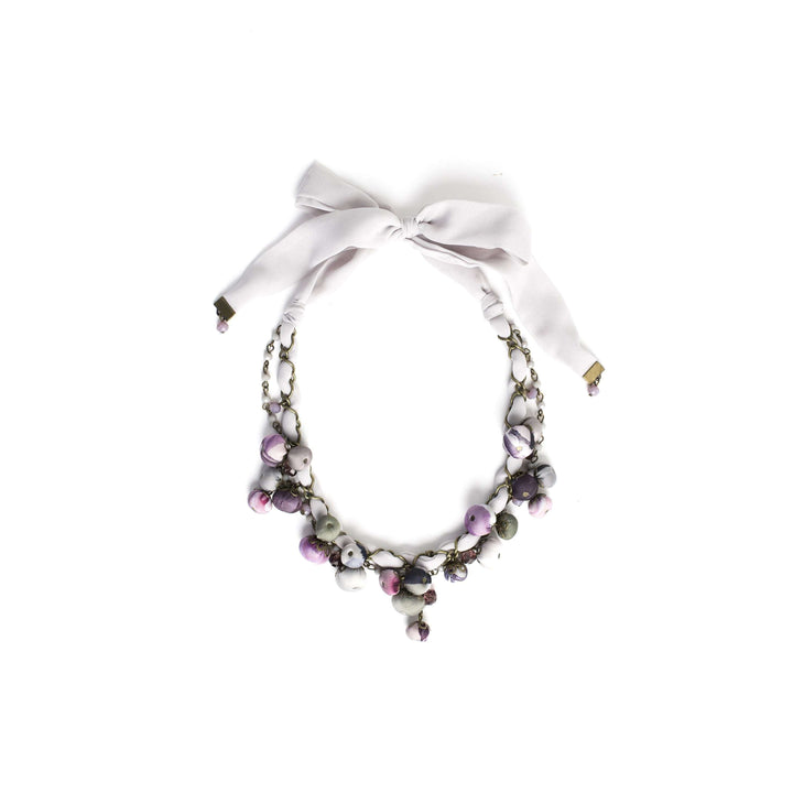 Gemma Necklace Frosted Lilac