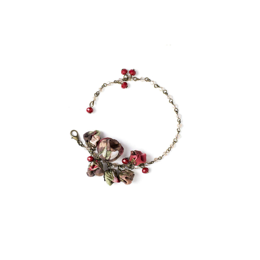 Poppy Bracelet Burgundy Bouquet