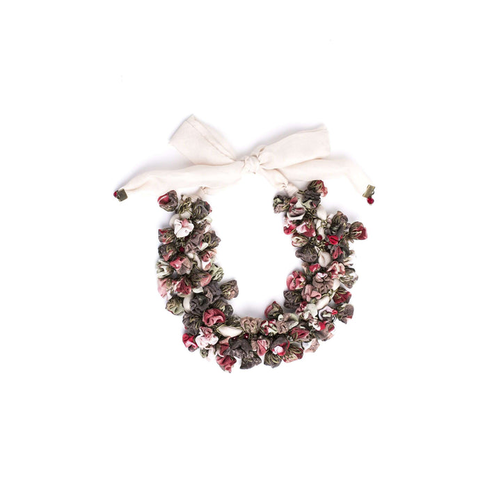 Sata Necklace Burgundy Bouquet