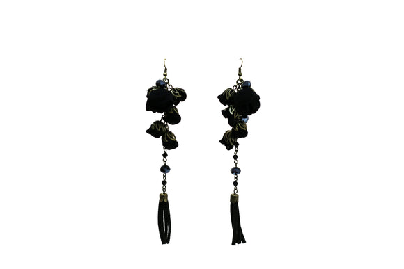Poppy Earrings Boudoir Black