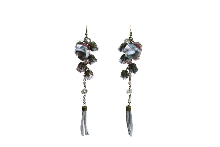 Poppy Earrings Cashmere Glass