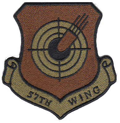 Air Force 57th Wing OCP Spice Brown Patch - 2 Pack