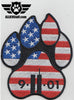 9-11 American Flag Paw Patch