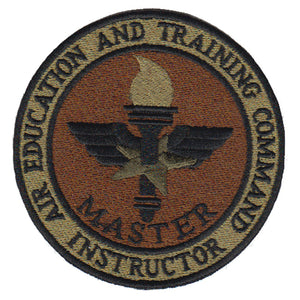 AETC Instructor Spice Brown OCP Patch - 2 Pack