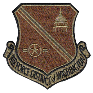 Air Force District of Washington (AFDW) OCP Spice Brown Patch - 2 Pack