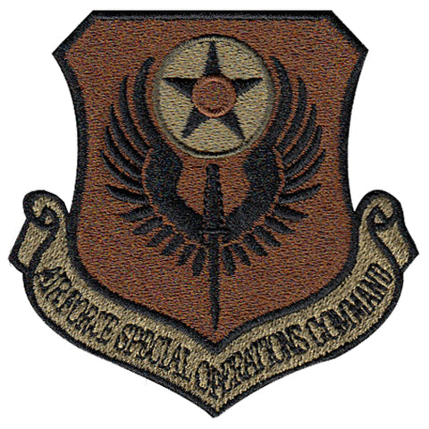 AF Special Operations Command (AFSOC) Majcom Spice Brown OCP Patch - 2 Pack