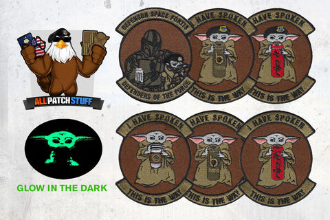 Image of BABY YODA GLOW IN THE DARK PATCH