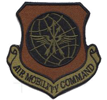 Air Mobility Command (AMC) Majcom Spice Brown OCP Patch - 2 Pack