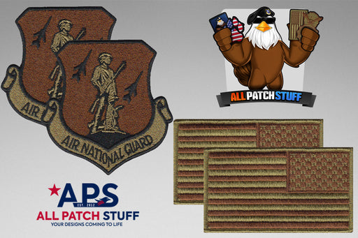 Air National Guard (ANG) / US Flag OCP Patch Bundle