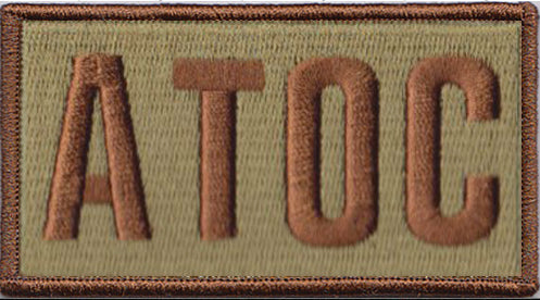 Air Terminal Operations Center (ATOC) Shoulder Identifier Multicam/OCP Patch - 2 Pack
