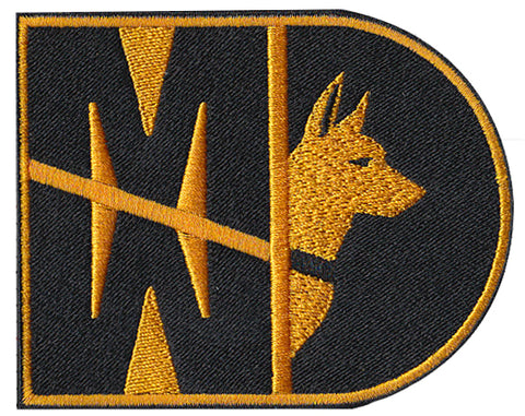 Image of 31 Kilo Gold Army MP K9 MWD Patch - 2 Pack