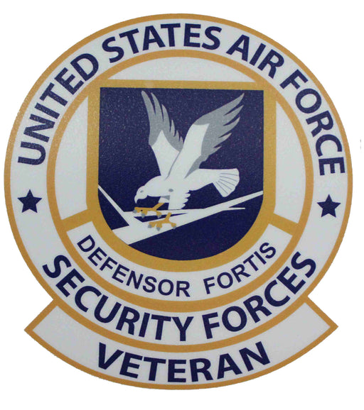 S AIR FORCE SECURITY FORCES SHIELD STICKER LARGE STICKER U