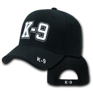 Baseball Cap / Hat - K9 Black