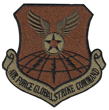 Air Force Global Strike Command Majcom Spice Brown OCP Patch - 2 Pack