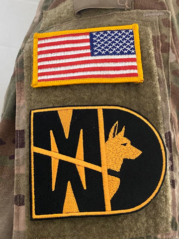 31 Kilo Army MP K9 MWD Patch - 2 Pack