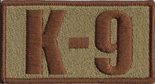 SF K-9 Shoulder Patch with Spice Brown Border - 2 Pack