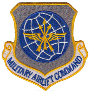 Military Airlift Command (MAC) Colored Replica Patch - 2 Pack