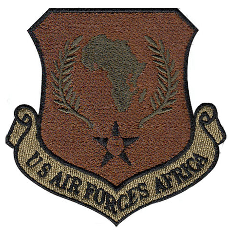 AF US Air Forces Africa Majcom Spice Brown OCP Patch - 2 Pack