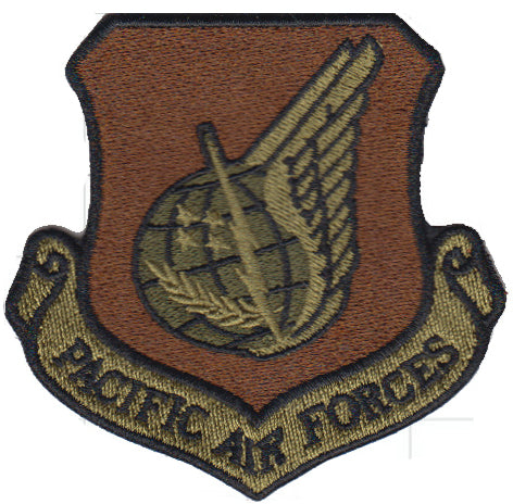 AF Pacific Air Force Command (PACAF) Majcom Spice Brown OCP Patch - 2 Pack