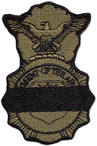 Security Forces Badge w/Black Line Velco Patch - 2 Pack