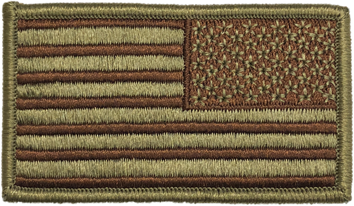 OFFICIAL USAF US Reverse Spice Brown OCP/Multicam Velcro Flag Patch - 2 Pack