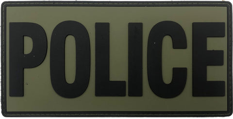 "Image of Large Police PVC Patch 6"" x 3"""