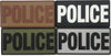 "Large Police PVC Patch 6"" x 3"""