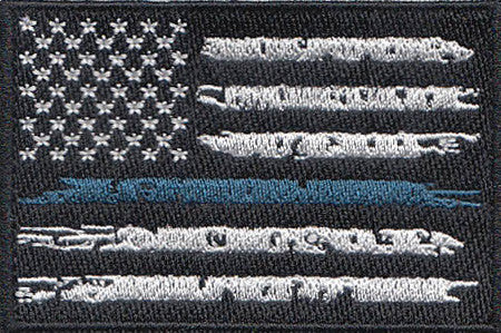 US Flag - Thin Blue Line Custom Patch