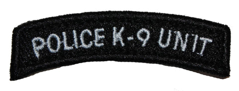 Image of Police K-9 Unit Tab Black Patch - 2 Pack